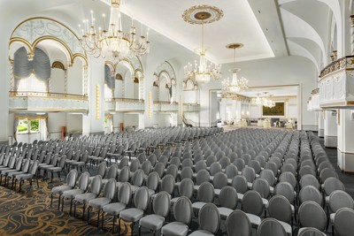 Restored Grand Ballroom at Boston Park Plaza