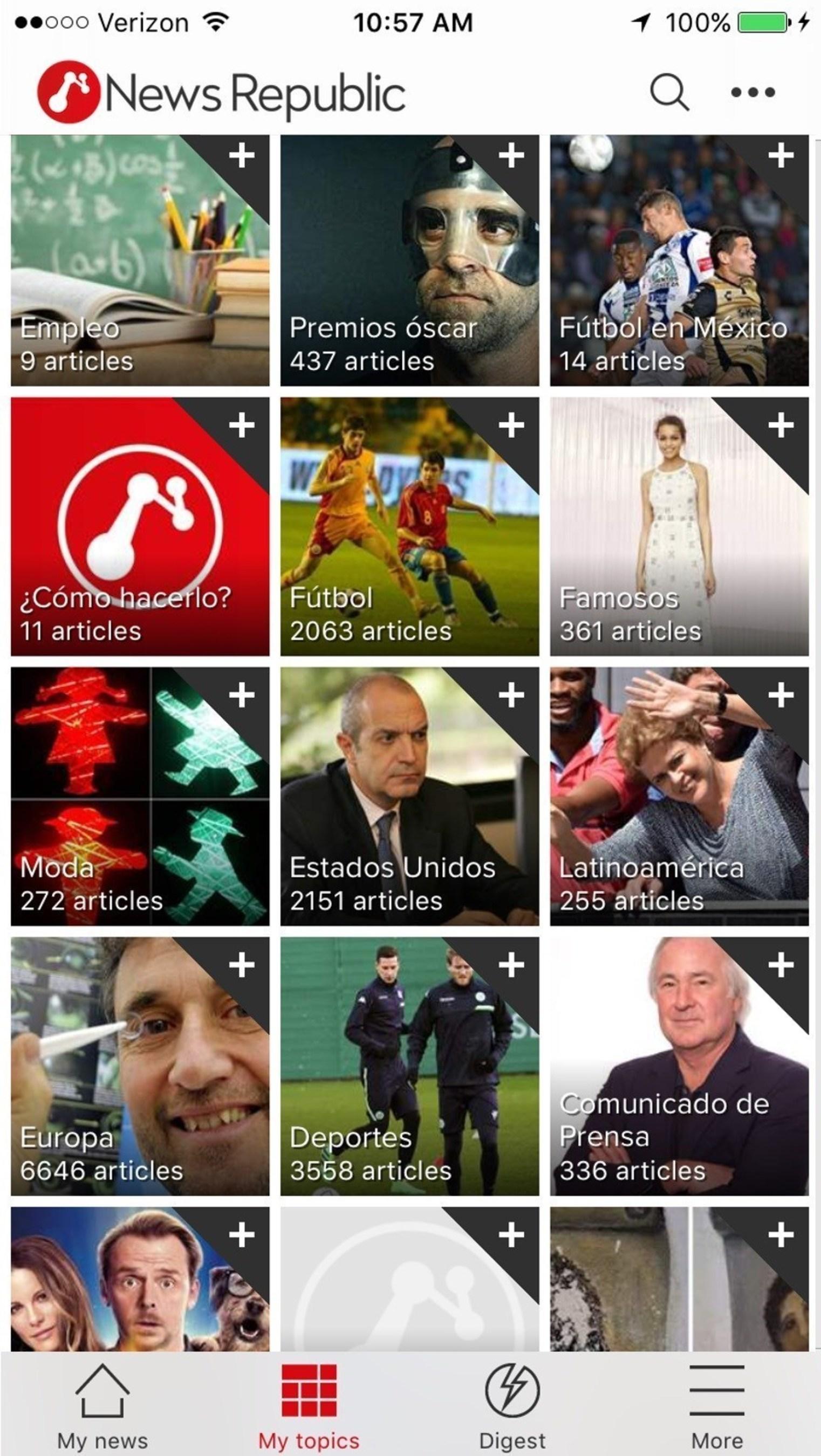 News Republic, el proveedor mas grande de noticias global con 1,650 socios de contenido, lanza hoy mas ...