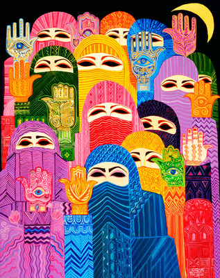 """Hands of Fatima"" by Laila Shawa, included in IMOW's online exhibition at muslima.imow.org.  (PRNewsFoto/The International Museum of Women)"