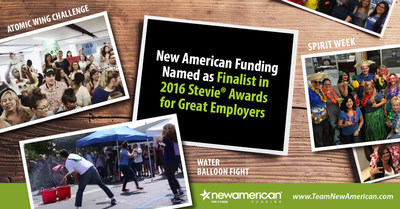 New American Funding Named as Finalist in 2016 Stevie Awards for Great Employers.