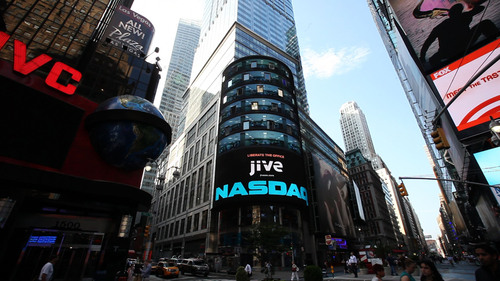Jive, Leader in Social Business, Launches Office Hero Campaign Live from Times Square