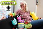 MakerBot and Pretty Ugly announced at the Licensing Expo a collaboration to bring Uglydoll characters to the MakerBot Digital Store. Pictured is MakerBot president and Uglydoll fan Jenny Lawton with the new 3D printed Uglydoll characters Babo, Wage, Ice-Bat and Ox, as well as some of her favorite plush Uglydoll friends. The 3D printed Uglydoll characters are available to purchase, download and 3D print from the MakerBot Digital Store http://www.makerbot.com/digitalstore. (PRNewsFoto/MakerBot and Uglydoll...)