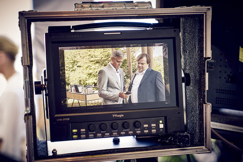 On the set of the latest Nespresso commercial, co-stars George Clooney and Jack Black discover the Nespresso difference that is encapsulated in the 'What Else' concept. For more information visit  www.nespresso.com/whatelse (PRNewsFoto/Nestle Nespresso SA) (PRNewsFoto/Nestle Nespresso SA)