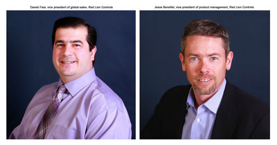 Red Lions Controls promotes Jesse Benefiel to Vice President of Product Management and appoints Daniel Faia as Vice President of Global Sales to support company growth.  (PRNewsFoto/Red Lion Controls)