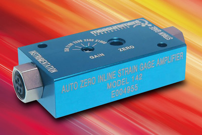 Unique Auto-Zero Function Provides Ultra High Accuracy in New Inline Strain Gage Amplifier from Measurement Specialties. (PRNewsFoto/Measurement Specialties, Inc.)
