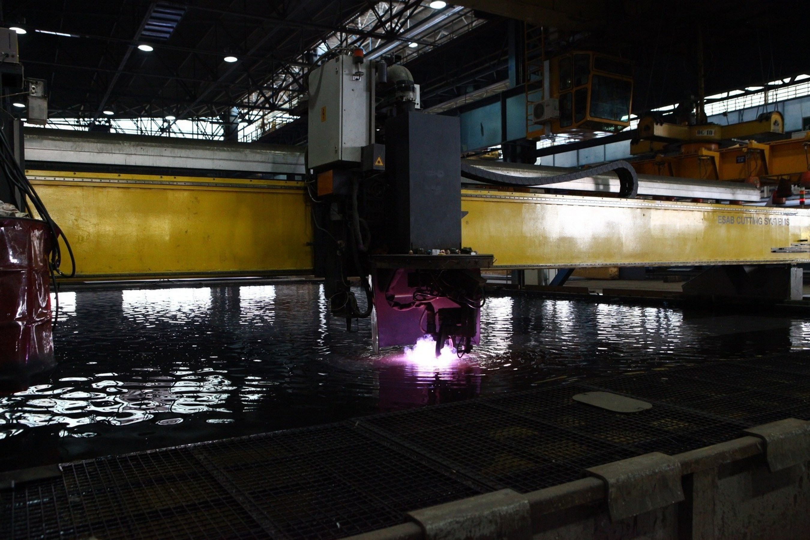 The first piece of steel is cut for Seabourn Encore, Seabourn's new ship due for delivery in late 2016.