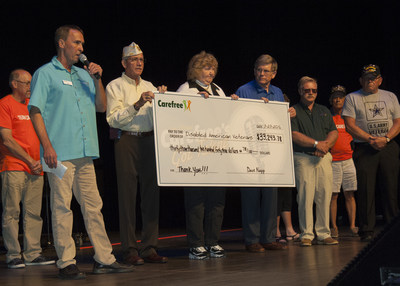 Carefree Communities' military veteran employees present Disabled American Veterans with a $33,000 donation at the 5th annual Carefree's Got Talent competition on March 23rd in Lakeland, Florida.