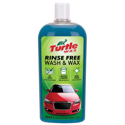 Turtle Wax Rinse Free Wash & Wax Offers Advanced Technology to Clean and Shine Vehicles, Limits Water Use. (PRNewsFoto/Turtle Wax) (PRNewsFoto/TURTLE WAX)