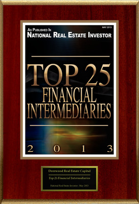"Deerwood Real Estate Capital Selected For ""Top 25 Financial Intermediaries.""  (PRNewsFoto/Deerwood Real Estate Capital)"
