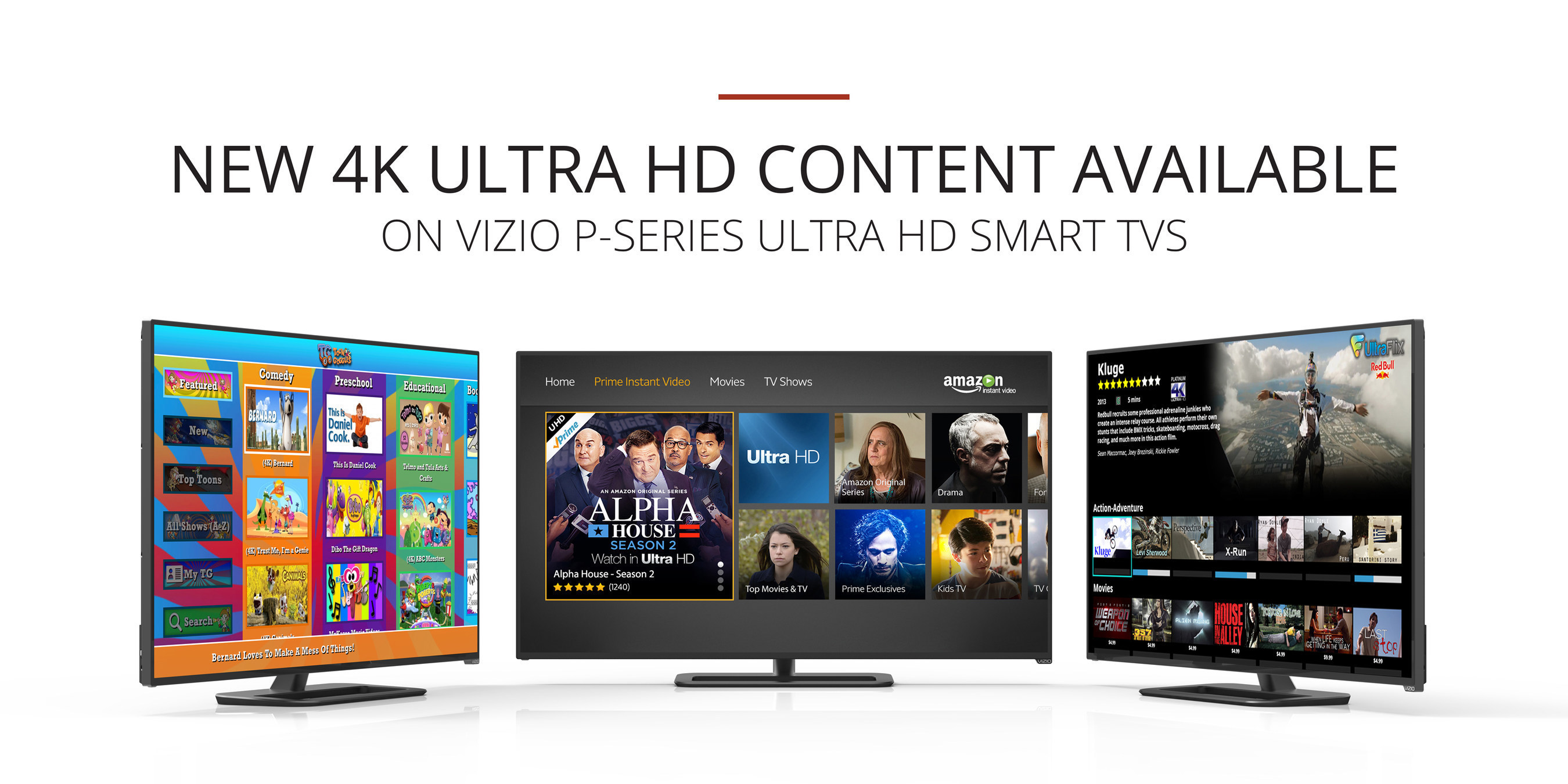 Vizio Adds New Apps Supporting 4k Content To Vizio Internet Apps
