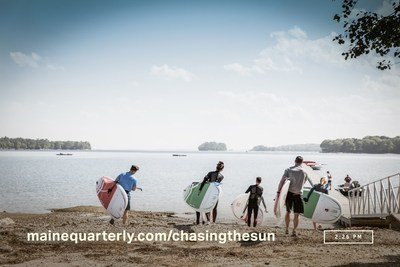 The six adventurers get ready to try stand up paddle boarding.
