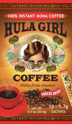 Hula Girl Freeze Dried Coffee.  (PRNewsFoto/Hula Girl Coffee)