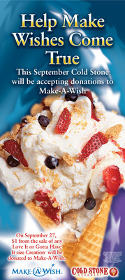 Cold Stone Creamery Hosts 11th Annual World's Largest Ice Cream Social To Benefit Make-A-Wish