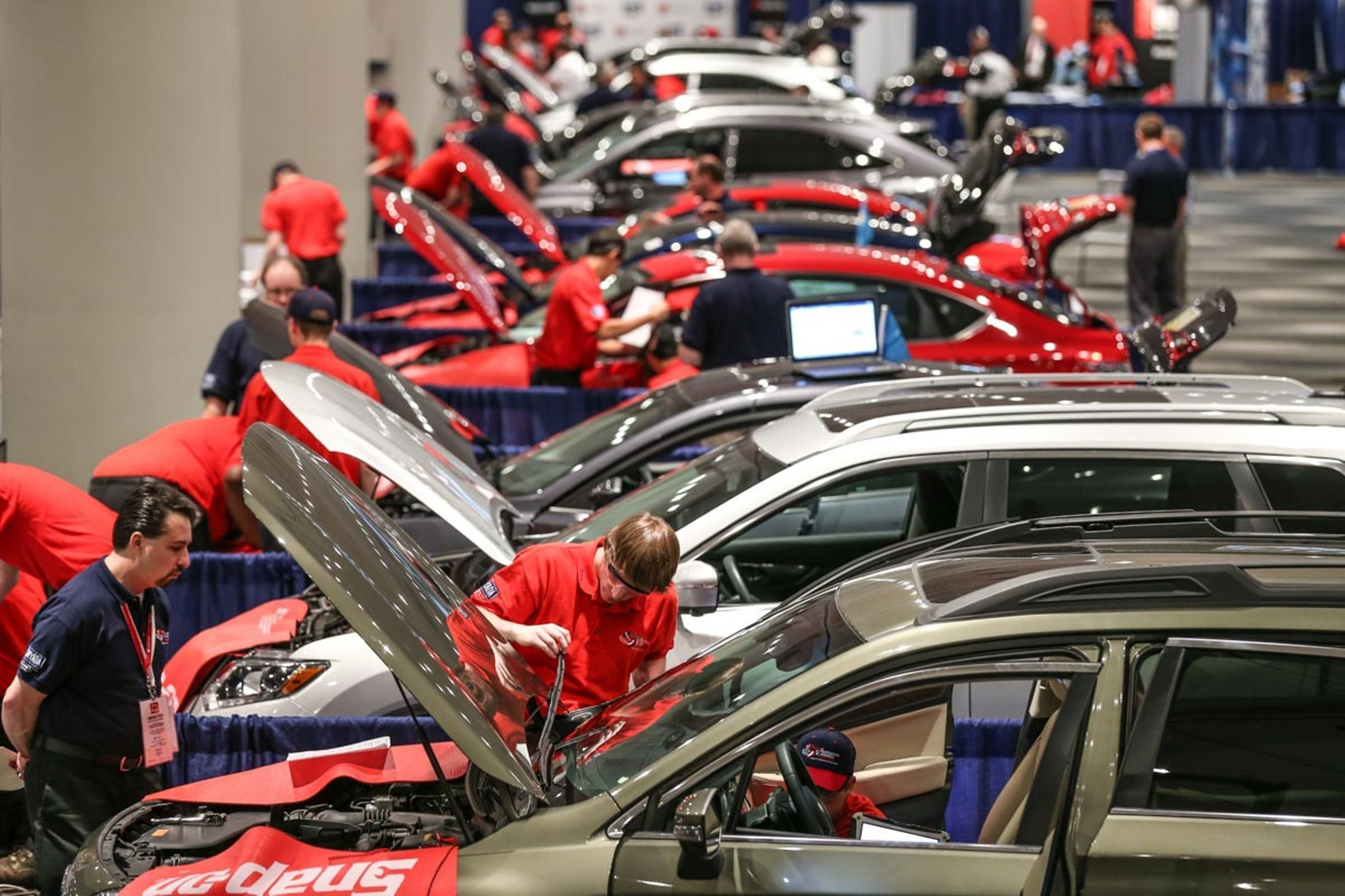 High school students from across the country compete to become America's Top Technician at the 2015 National Automotive Technology Competition.