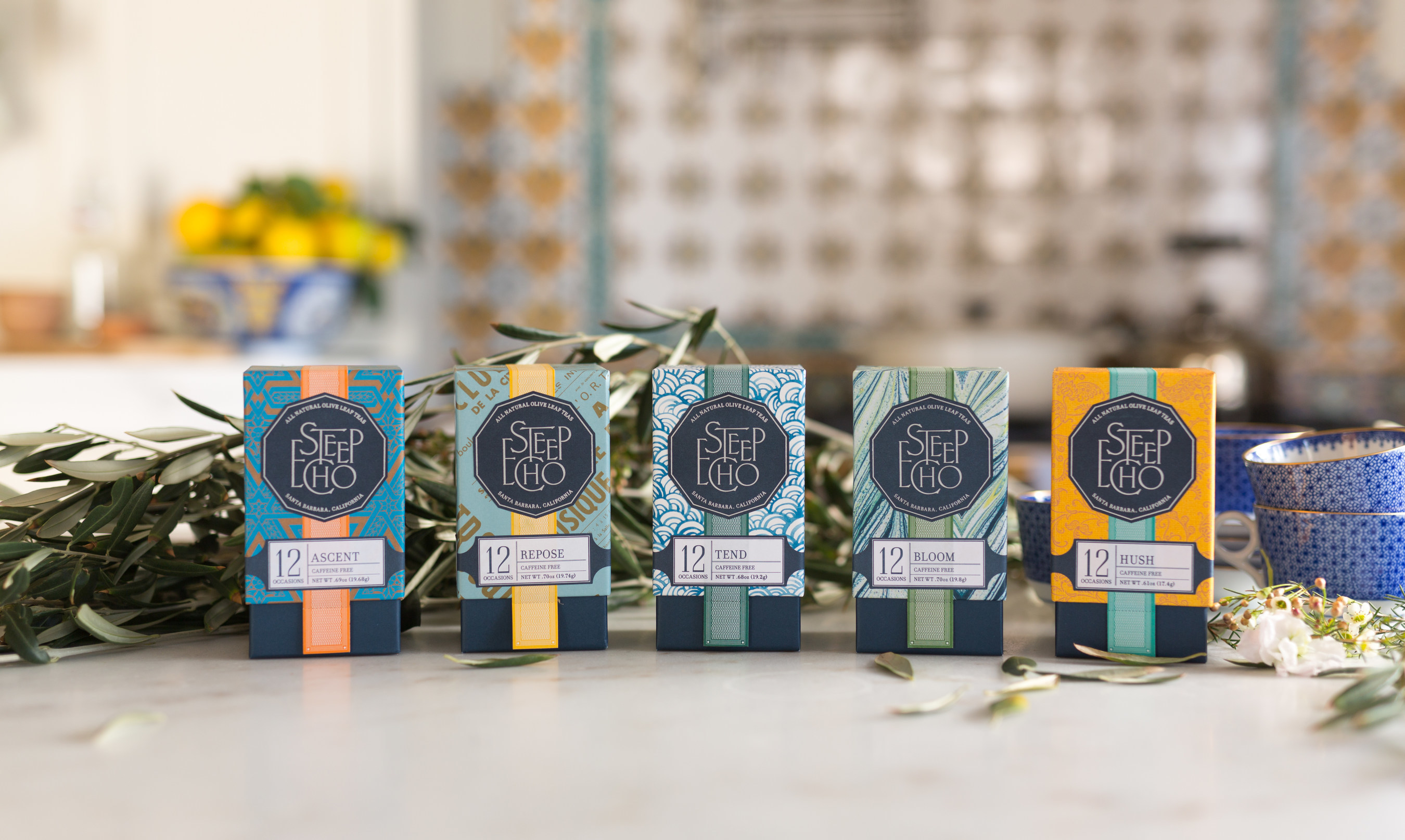 Steep Echo is a new tea company selling all-natural olive leaf teas designed to accentuate a healthy lifestyle. Each of the five caffeine-free blends in the collection is approachable, yet offers a stark contrast to other teas on the market because of the complex and sophisticated flavor profiles.  Partnering with some of the best artisans in the tea trade, Steep Echo teas combine hand-harvested and dried olive leaves from the Bel Lavoro orchards in Santa Barbara ...
