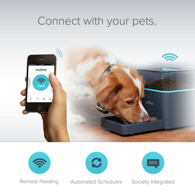 Pintofeed is the world's first pet feeder that truly understands the needs of you and your pet.  (PRNewsFoto/Pintofeed, Inc.)