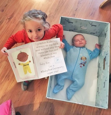 The Twin Cities, Massachusetts' Berkshire County, and San Antonio Adopt Baby Box University to Reduce Infant Mortality & Aid Maternal Health (PRNewsFoto/The Baby Box Co.)