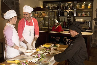Hands-on cooking classes, making Peruvian fusion dishes.