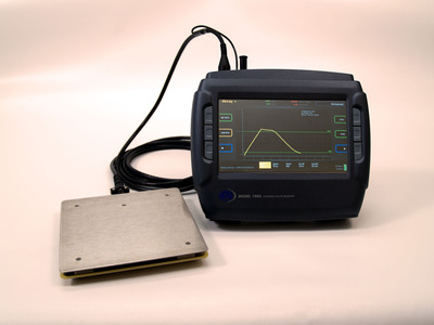 Trek's new Model 158A is a compact, user-friendly charged plate monitor. Features include a large LCD color graphic display, superior data collection/storage capability, touch screen/function key controls, and programmable start/stop voltages for  /-decay mode measurements. Model 158A was designed to address the industry's need for faster, more accurate, and more reliable air ionizer performance evaluations and enhanced data collection/storage in the semiconductor industry and in other processes sensitive to electrostatic discharge (ESD). Specifications include measurement range of 0 to  /-1100V DC or peak AC, large signal bandwidth of 80Hz (-3dB), accuracy of  /-0.1% (full scale) and output noise 10mV rms.  (PRNewsFoto/TREK, INC.)