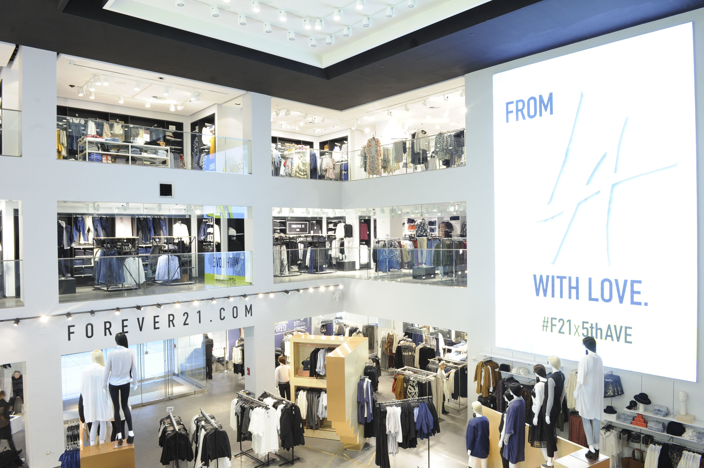 Forever 21 Fifth Avenue Interior Shot in New York City, New York. Photo Credit: Craig Barritt