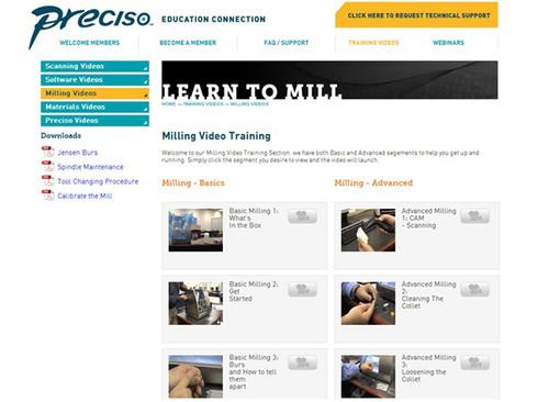 Milling Tutorial Videos.  (PRNewsFoto/Jensen Dental)