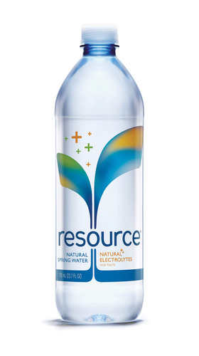 resource(R) 100% Natural Spring Water.  (PRNewsFoto/Nestle Waters North America)