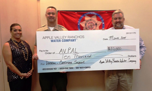 Ranchos Water Apple Valley Ranchos Water Co. General Manager and Vice President presents Apple Valley Police ...