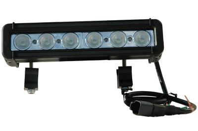 The LEDP3W-3 LED Light Bar offers high light output from a compact form factor and is ideal for a wide range of uses including heavy equipment, boating, vehicle, military, law enforcement and industrial manufacturing applications. 684 lumen light output with very low amp draw, 50,000 hour service life and 9 to 32 volt compatibility provides operators with a compact and powerful LED lighting solution.  (PRNewsFoto/Larson Electronics)