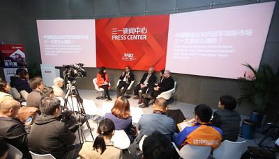 China-US Expert Senior Level Talks at the SANY Press Center during Bauma China