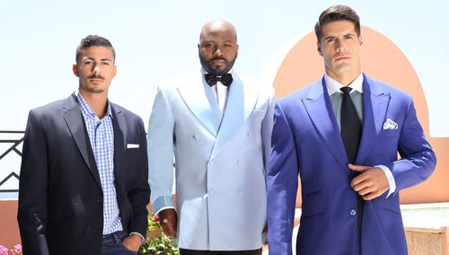 Franklin Eugene Fashion Designs, Shades of Blue, Spring/Summer 2016 (Gingham Savannah, The Barrata, TheWroughton), New York, Dubai, Milan (PRNewsFoto/Franklin Eugene International)
