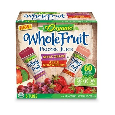 Apple Grape and Apple Strawberry Whole Fruit Organic Juice Tubes