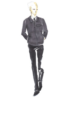 Male sketch from Momentum by Timo Weiland, the new collection of hotel team uniforms for all Crowne Plaza Hotels & Resorts in the Americas region