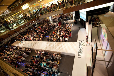 The runway at The Galleria in Houston during a Simon Fashion Now event.  (PRNewsFoto/Simon Property Group, Inc., Jenny Antill)