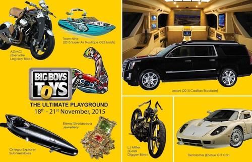 Some of the unique products being showcased at BBT 2015 (PRNewsFoto/Big Boys Toys) (PRNewsFoto/Big Boys Toys)