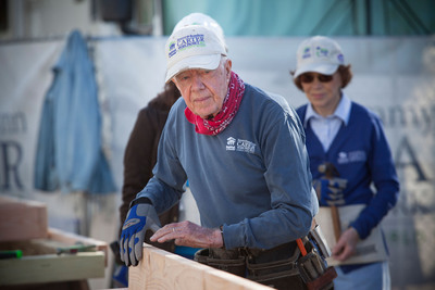 President and Mrs. Carter joined nearly 150 volunteers today to help build and repair homes in Union Beach, N.J., as part of Habitat for Humanity's  30th annual Jimmy and Rosalynn Carter Work Project.  (PRNewsFoto/Habitat for Humanity International)