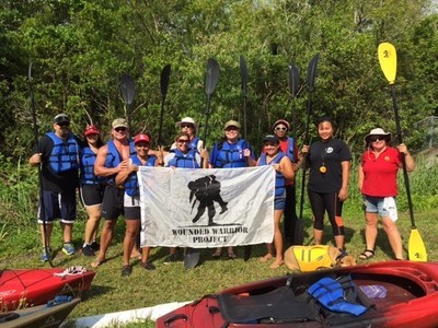 Wounded Warrior Project hosted a kayaking adventure for a group of wounded veterans in Florida.