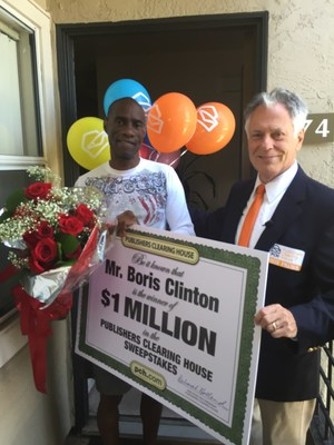 Boris Clinton of Oceanside, CA with his $1 Million Big Check!