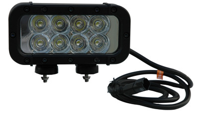 The Magnalight LEDLB-8E-IR LED Light Bar offers high infrared light output and extreme durability combined with versatile mounting and power options.  This light can run on any voltage from 9 to 42 volts and produces an infrared light beam that can only be seen through the use of night vision goggles. 750Nm, 850Nm or 940Nm versions. This light provides an extremely rugged infrared lighting solution that is ideal for use in commercial and industrial security applications as well as military environments.  (PRNewsFoto/Larson Electronics)