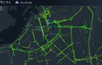 Online, real-time road friction map of Gothenburg (PRNewsFoto/NIRA Dynamics)