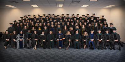 The University of St. Augustine for Health Sciences Florida campus in St. Augustine celebrated its spring commencement by presenting nearly 80 graduates with Doctor of Physical Therapy, Doctor of Occupational Therapy, Master of Occupational Therapy and Doctor of Education degrees.