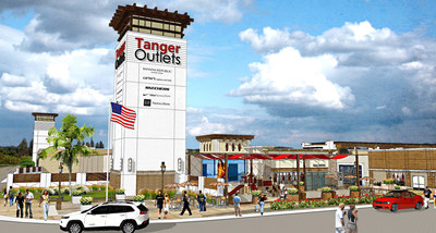Tanger Outlets Fort Worth Tower Rendering 1