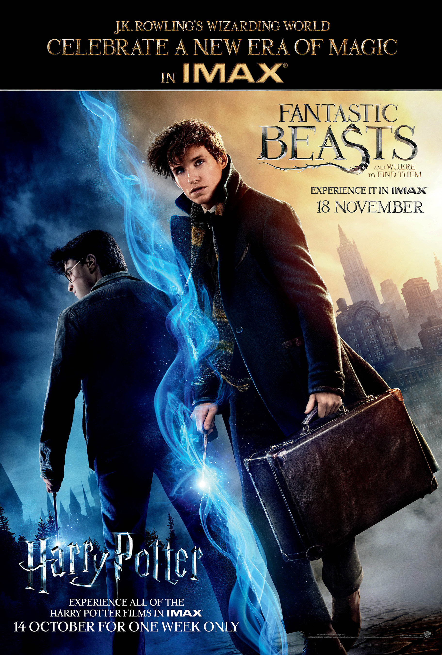 Warner Bros. Pictures' Entire Harry Potter Franchise To Be Released In IMAX(R) Theatres For Exclusive One-Week Engagement Beginning Oct. 13
