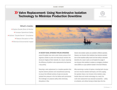 Case Study: Emergency Shutdown Valve Replacement Using Non-Intrusive Isolation Technology