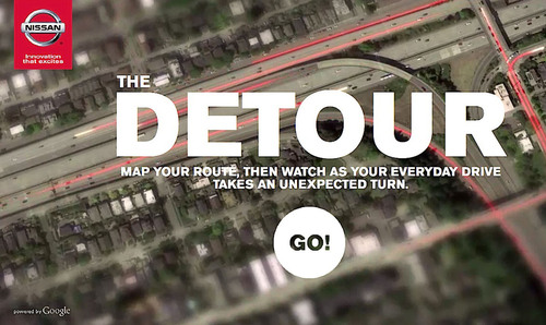 "NISSAN TAKES 2014 ROGUE SHOPPERS ON CINEMATIC ""DETOUR"".  (PRNewsFoto/Nissan North America)"