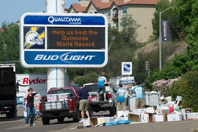 A new Guinness World Record was set at the recent SDCCU Super Shred Event, collecting and shredding 422,350 pounds of paper from the community.