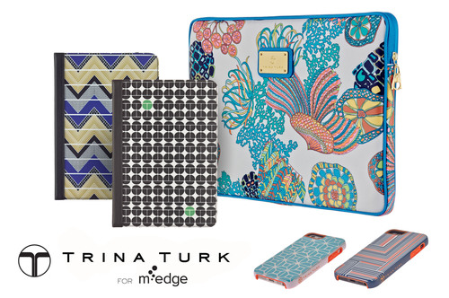 The Trina Turk collection for M-Edge offers fashion-forward accessories for iPhone, iPad, Kindle Fire, and Laptops.  (PRNewsFoto/M-Edge)