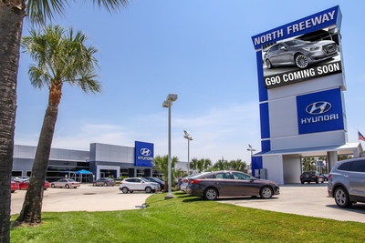 North Freeway Hyundai signs as the first dealer to sell and service new luxury Genesis brand vehicles this summer