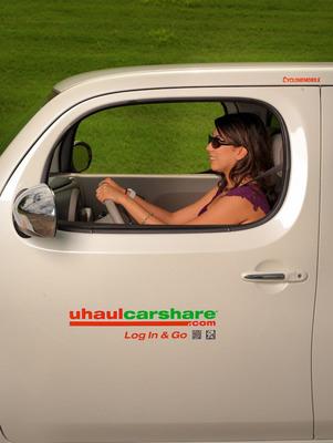 UhaulCarShare at Graceland University, Lamoni, Iowa.  (PRNewsFoto/UhaulCarShare)