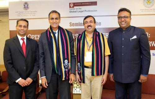 United States, Ambassador to India, His Excellency Ambassador Richard R. Verma With JGU Vice-Chancellor, Prof ...