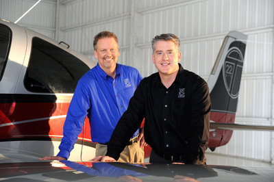 Cirrus Aircraft Co-Founder and CEO Dale Klapmeier (l) and President and Chief Operating Officer Patrick Waddick.  (PRNewsFoto/Cirrus Aircraft)